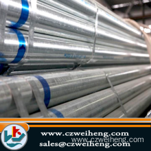 Greenhouse and scaffoldings used hot dip galvanized steel pipe